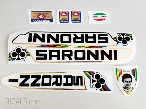 Stickers n.1 Transfers Gino Bartali Bicycle Frame Decals