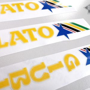 GARLATTI yellow decal set sticker complete bicycle FREE SHIPPING