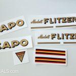 Capo model Flitzer bicycle decal set BICALS