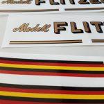 Capo model Flitzer bicycle decal set BICALS1