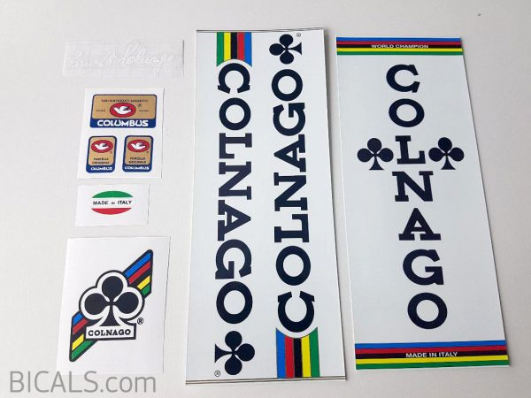 Colnago Mexico white panel set decal BICALS 1