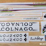 Colnago master decal set V1 white letters black outline BICALS 1