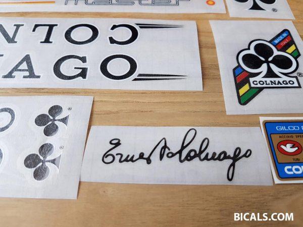 Colnago master decal set V1 white letters black outline BICALS 2
