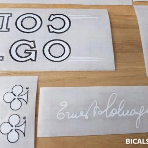 Colnago master decal set V1 white letters black outline BICALS 1