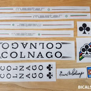 Colnago master decal set V4 white letters black outline BICALS 1