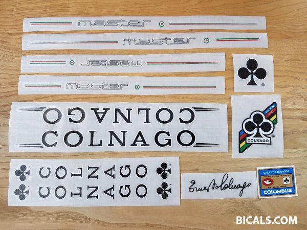 Colnago master decal set V3 black letters white outline BICALS 1