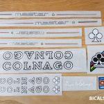 Colnago master decal set V4 white letters black outline BICALS 1