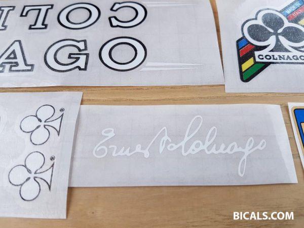 Colnago master decal set V4 black letters white outline BICALS 2
