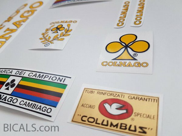 Colnago yellow decal set 71-74 BICALS 2