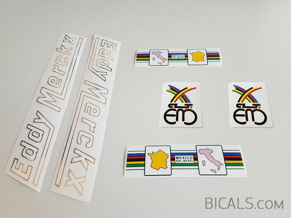 Decals 07080 Eddy Merckx Bicycle Head Badge Stickers Transfers
