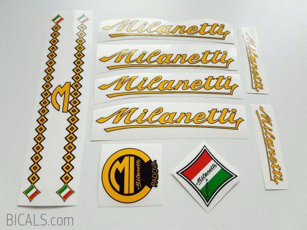 Milanetti yellow decal set BICALS 1