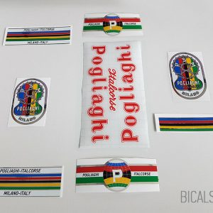 Pogliaghi 50s - 60s red decal set BICALS 1