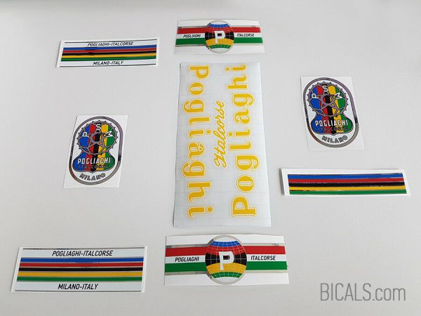 Pogliaghi 50s – 60s yellow decal set BICALS 1