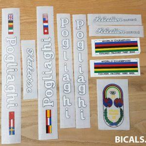 Pogliaghi V1 white decal set BICALS 1