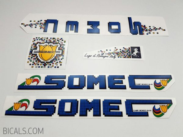 SOMEC pixel blue decal set BICALS