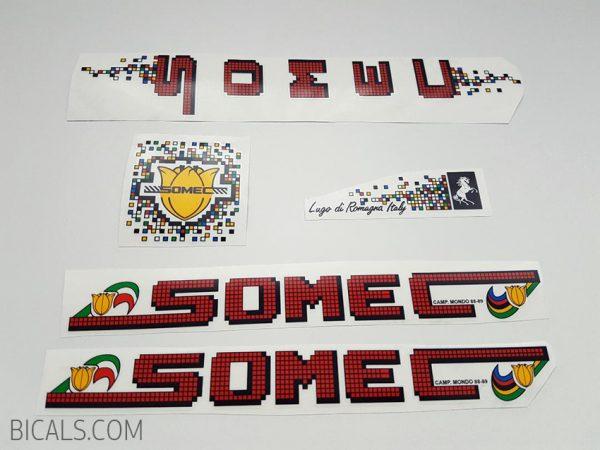 SOMEC pixel red decal set BICALS
