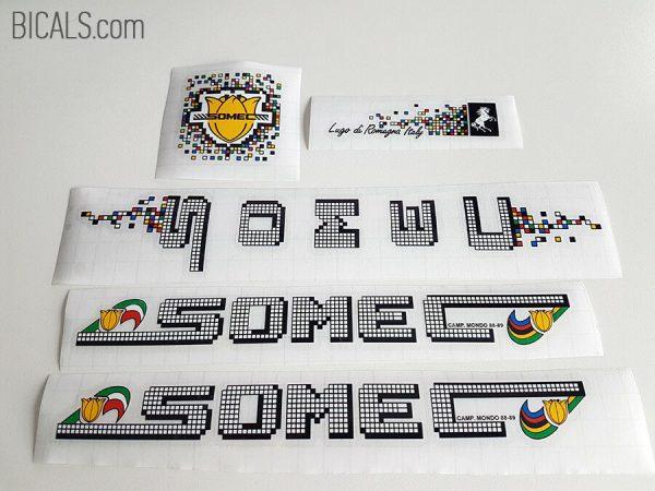 SOMEC pixel white decal set BICALS