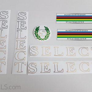 Select fahrrad decal set BICALS