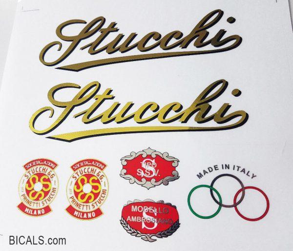 Stucchi prinetti decal set BICALS