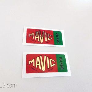 Mavic Open Pro green decal BICALS