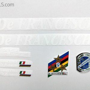 De Franceschi white decal set BICALS