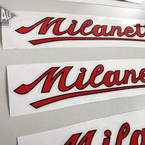 Milanetti red decal set BICALS
