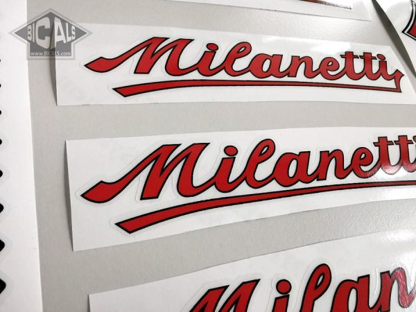 Milanetti red decal set BICALS 1