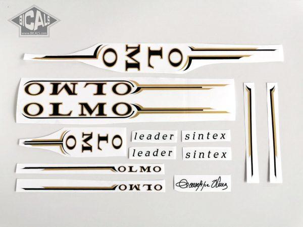 Olmo Sintex black gold decal set Bicals