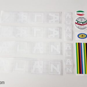 Alan white bicycle decal set BICALS