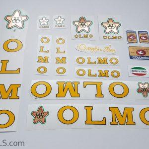 Olmo V2 yellow decal set Bicals