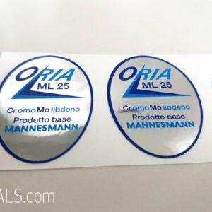 Oria ML 25 tubing decal set BICALS