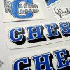 Chesini V3 blue decal set BICALS 1