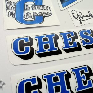 Chesini V3 blue decal set BICALS 1