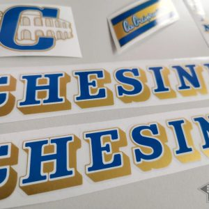 Chesini V4 blue - gold decal set BICALS