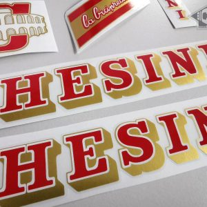 Chesini V4 red - gold decal set BICALS