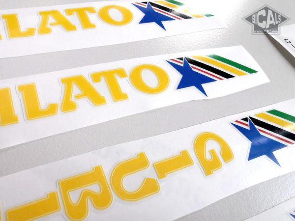 GIUBILATO CICLI BASSANO yellow decal set BICALS 1
