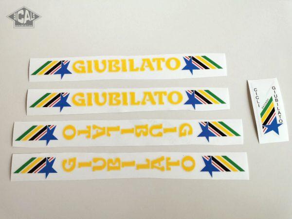 GIUBILATO CICLI BASSANO yellow decal set BICALS