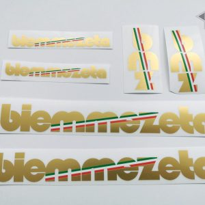 BIEMMEZETA Italy golden letter decal set BICALS
