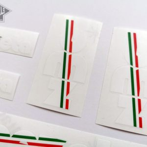 BIEMMEZETA Italy white letter decal set BICALS