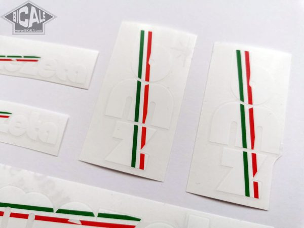 BIEMMEZETA Italy white letter decal set BICALS 1