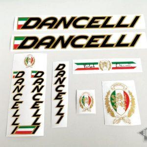 Dancelli Donna Lady decal set black letters golden outline BICALS