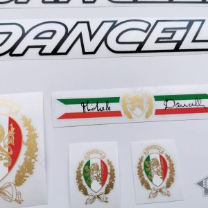 Dancelli V3 decal set white letters black outline BICALS