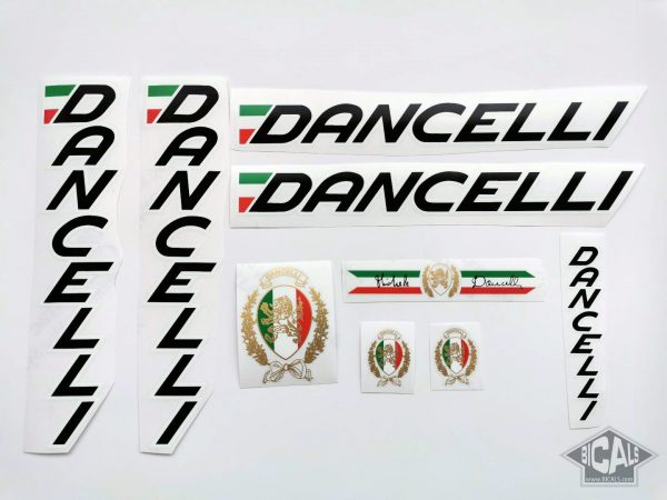 Dancelli V4 decal set black letters white outline BICALS