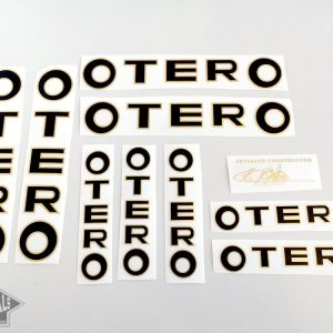 Otero Spain bicycle decal set black letters BICALS