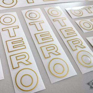 Otero Spain bicycle decal set white letters BICALS