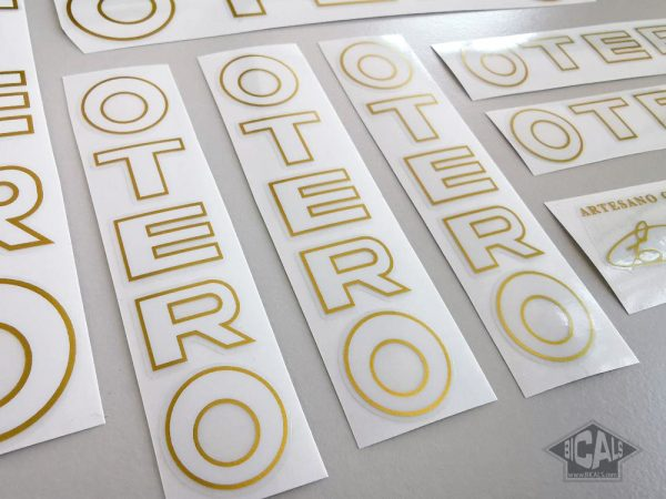 Otero Spain bicycle decal set white letters BICALS 1