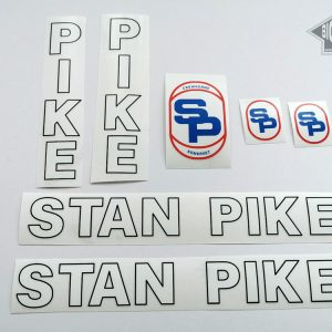 STAN PIKE white letter decal set BICALS