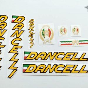 Dancelli V5 decal set yellow letters black outline BICALS