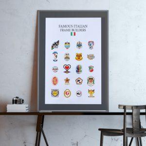Famous italian frame builders poster