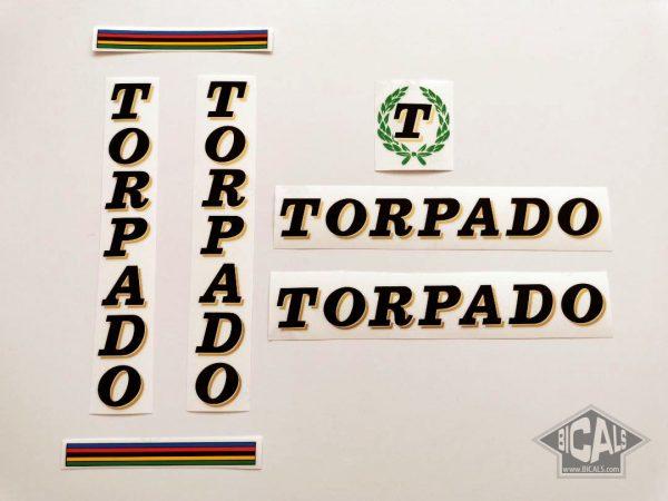 TORPADO Cicli black decal set BICALS 1
